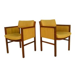 Pair Mid-Century Modern Ebena LaSalle Sidechairs