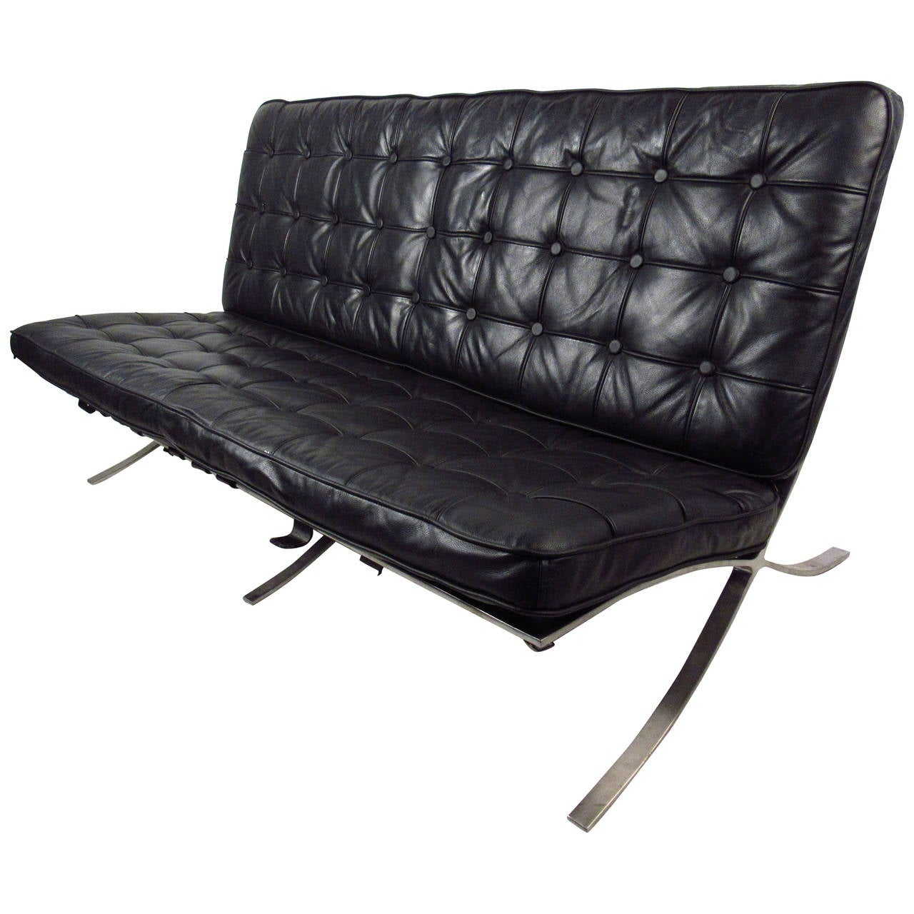 Mid Century Style Barcelona Sofa Ludwig Mies Van Der Rohe