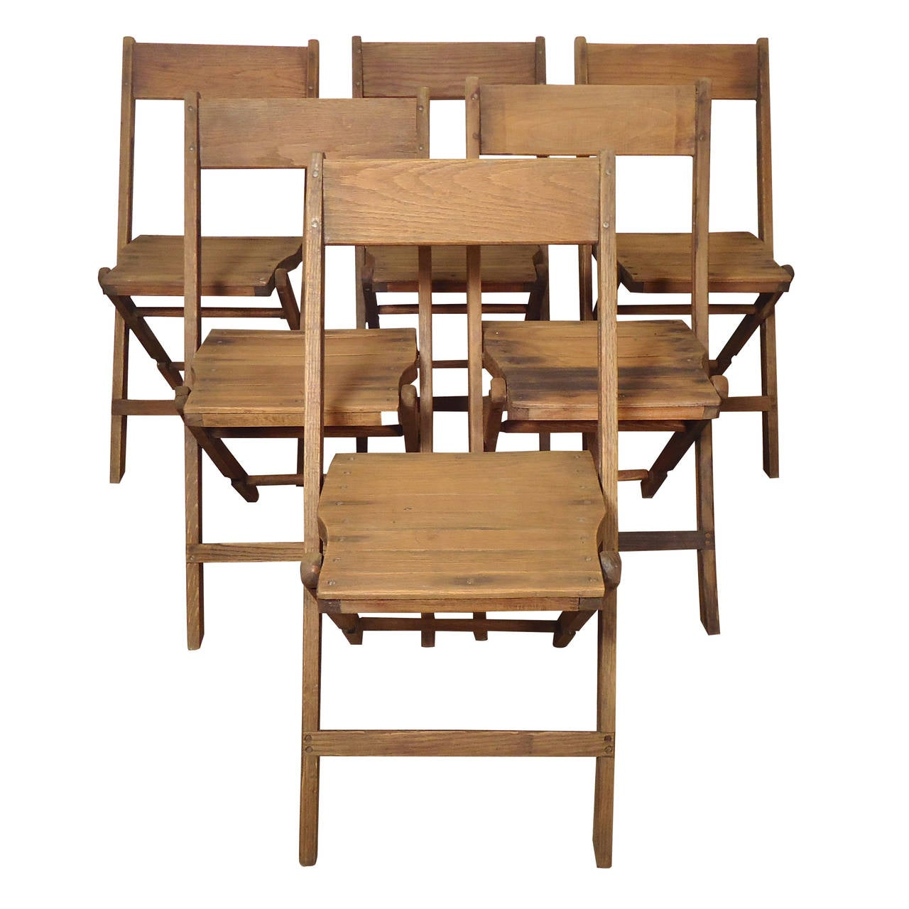 Classic All Wood Folding Chairs For Sale at 1stdibs