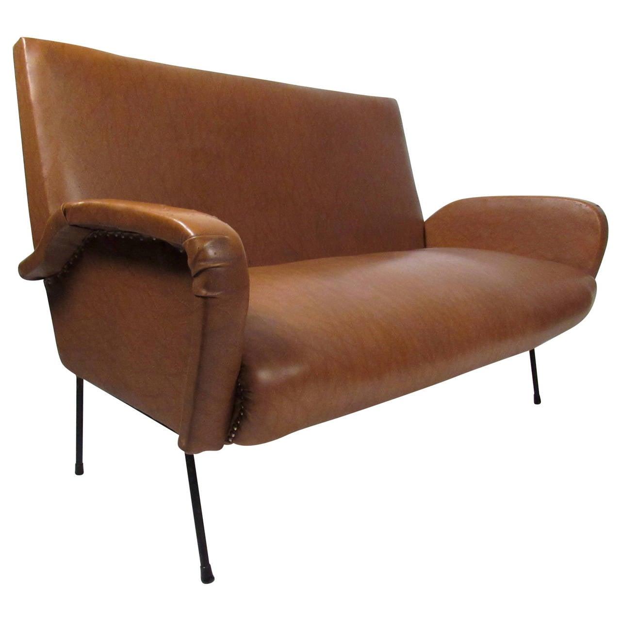 Italian Modern Two Seat Sofa