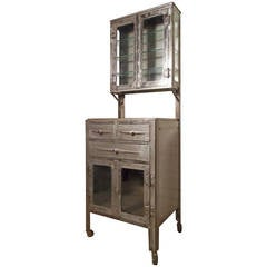 Vintage Industrial Hospital Cabinet Restored
