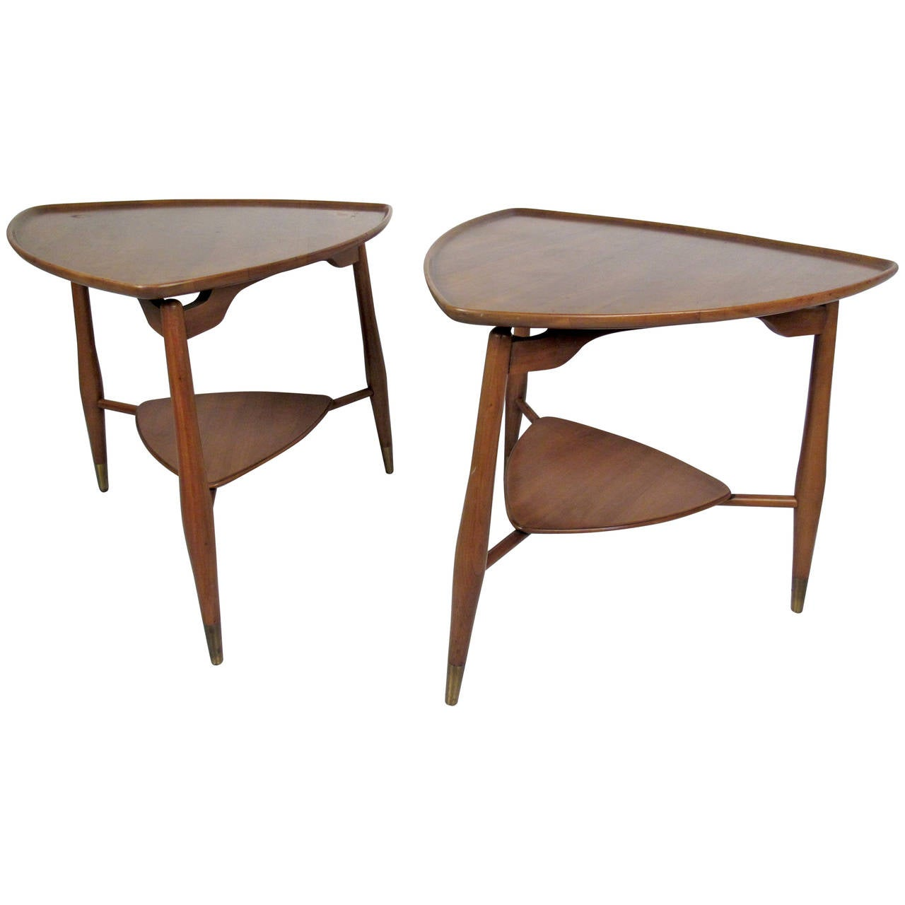 pair of mid century modern end tables by john widdicomb for sale  - pair of mid century modern end tables by john widdicomb