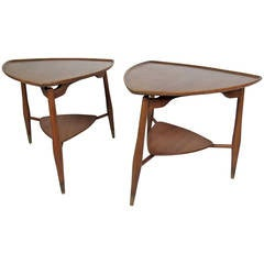 Pair of Mid Century Modern End Tables by John Widdicomb