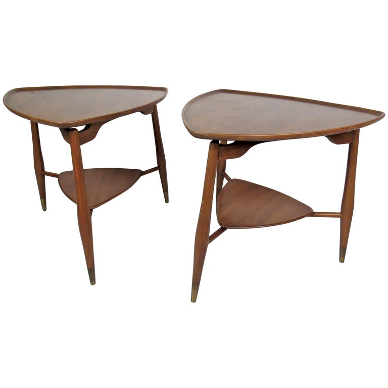 Pair Of Mid-Century Modern End Tables By John Widdicomb