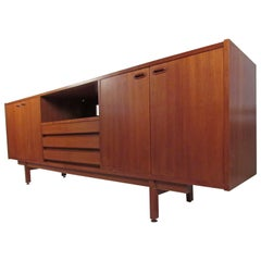 Stylish Scandinavian Modern Teak Sideboard