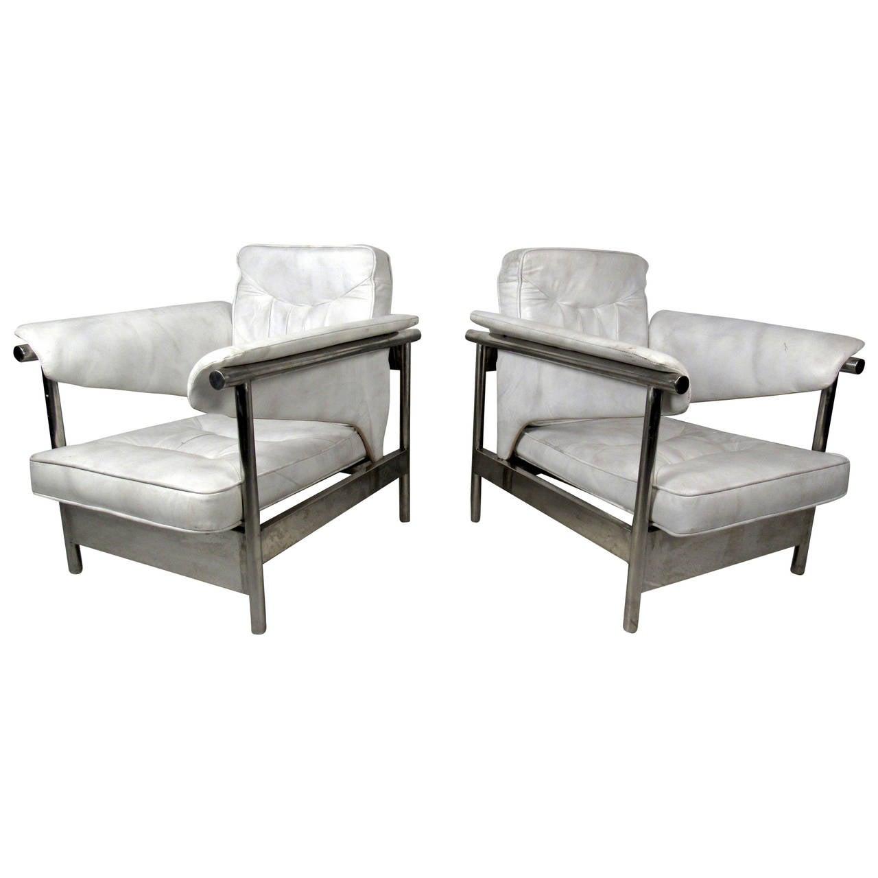 Midcentury Chrome Lounge Chairs
