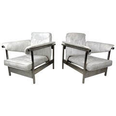 Midcentury Chrome Lounge Chairs