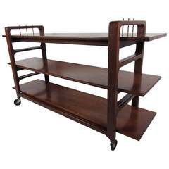 Midcentury Serving Cart by Baker Furniture Company
