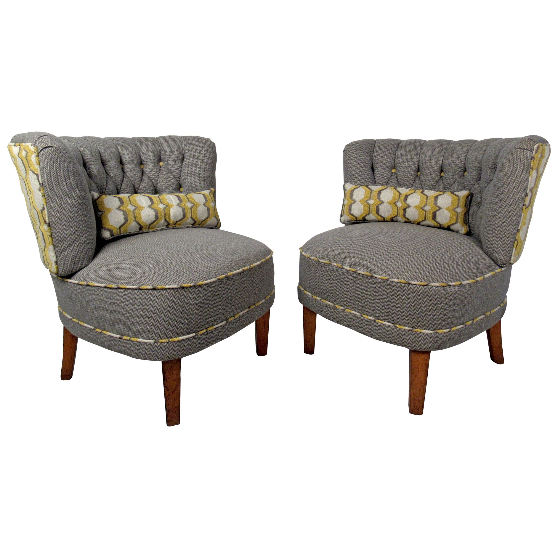 Pair of Modern Slipper Chairs