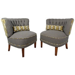 Pair of Modern Slipper Chairs