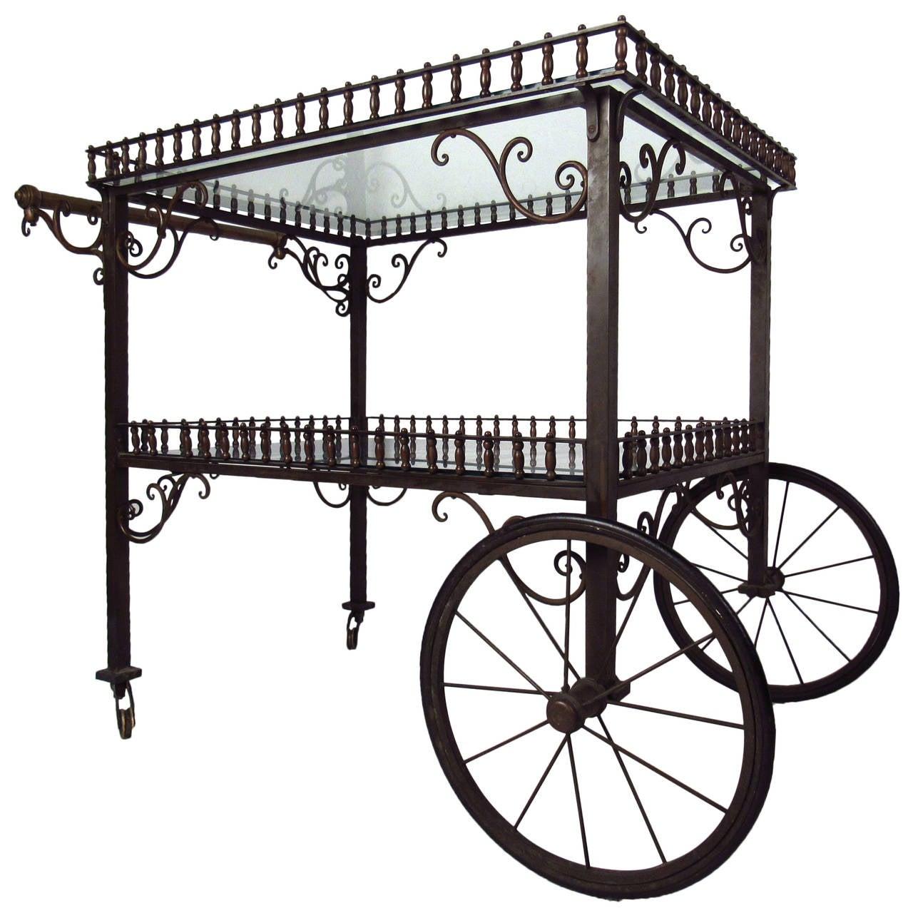 Ornate Vintage Bar or Tea Cart