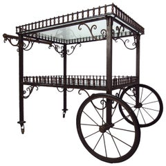 Ornate Vintage Bar or Tea Cart