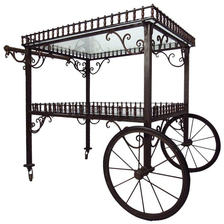 Ornate Vintage Bar or Tea Cart For Sale