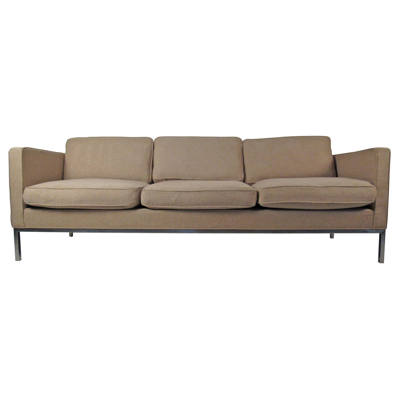 Mid century modern sofa in the style of knoll for sale at for Mid century modern sofas