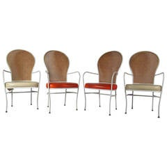 Set of Four Cane High Back Chairs by Milo Baughman for Thayer Coggin