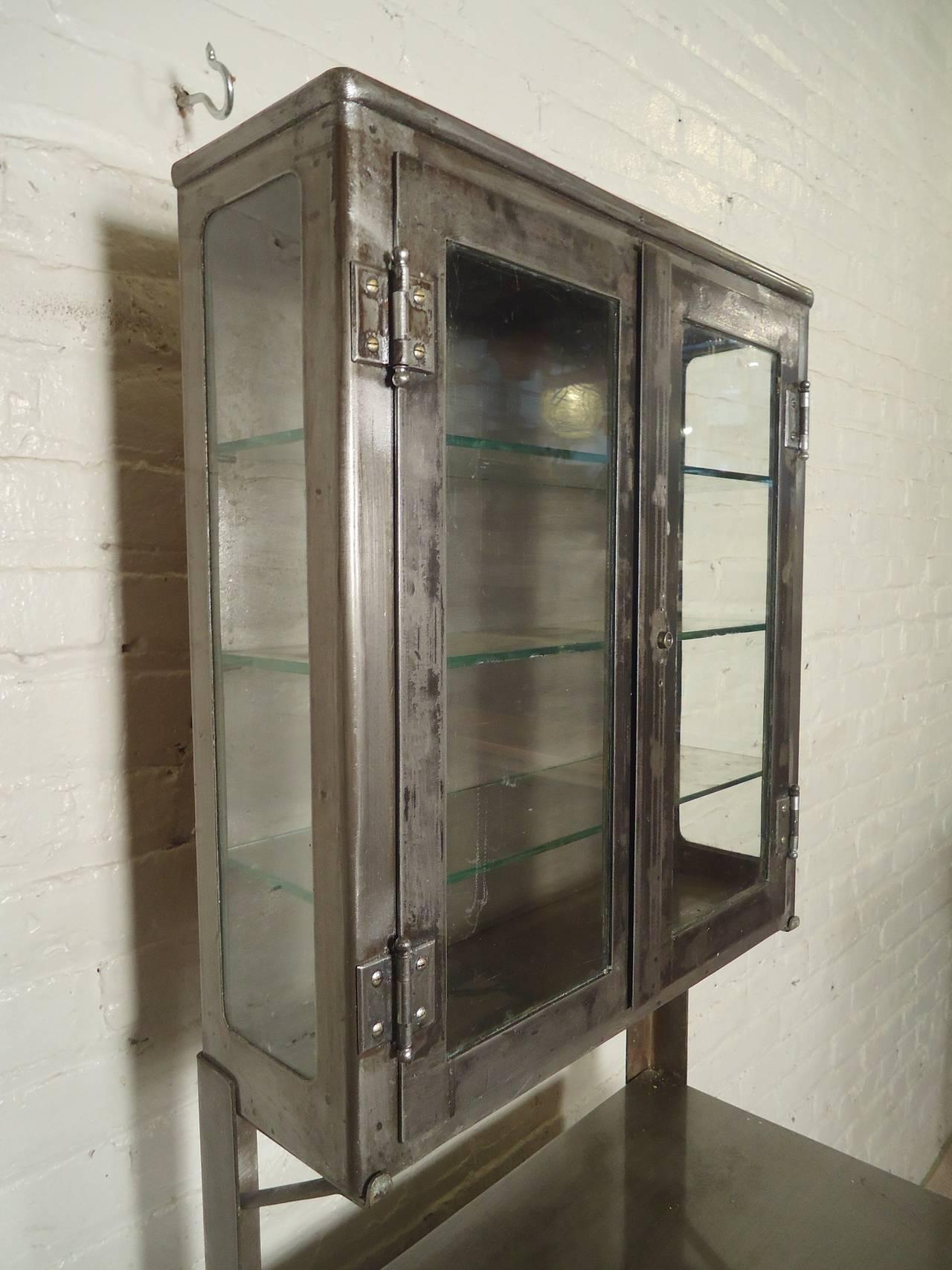 Vintage Industrial Hospital Cabinet Restored At 1stdibs