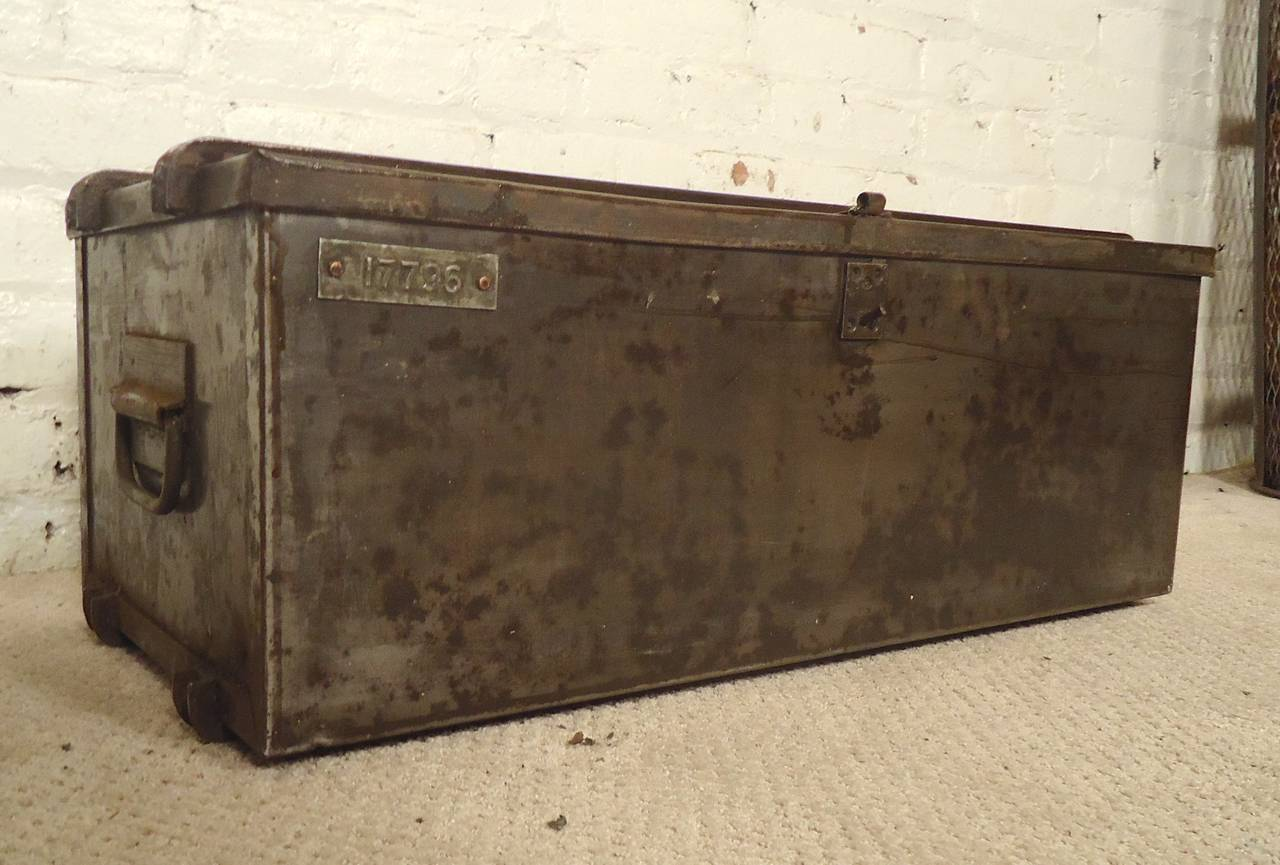 Heavy Duty Metal Trunk For Sale At 1stdibs