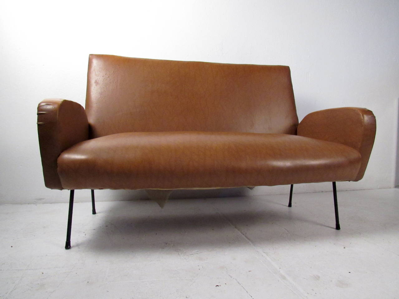 Mid-Century Modern Italian Modern Two Seat Sofa For Sale
