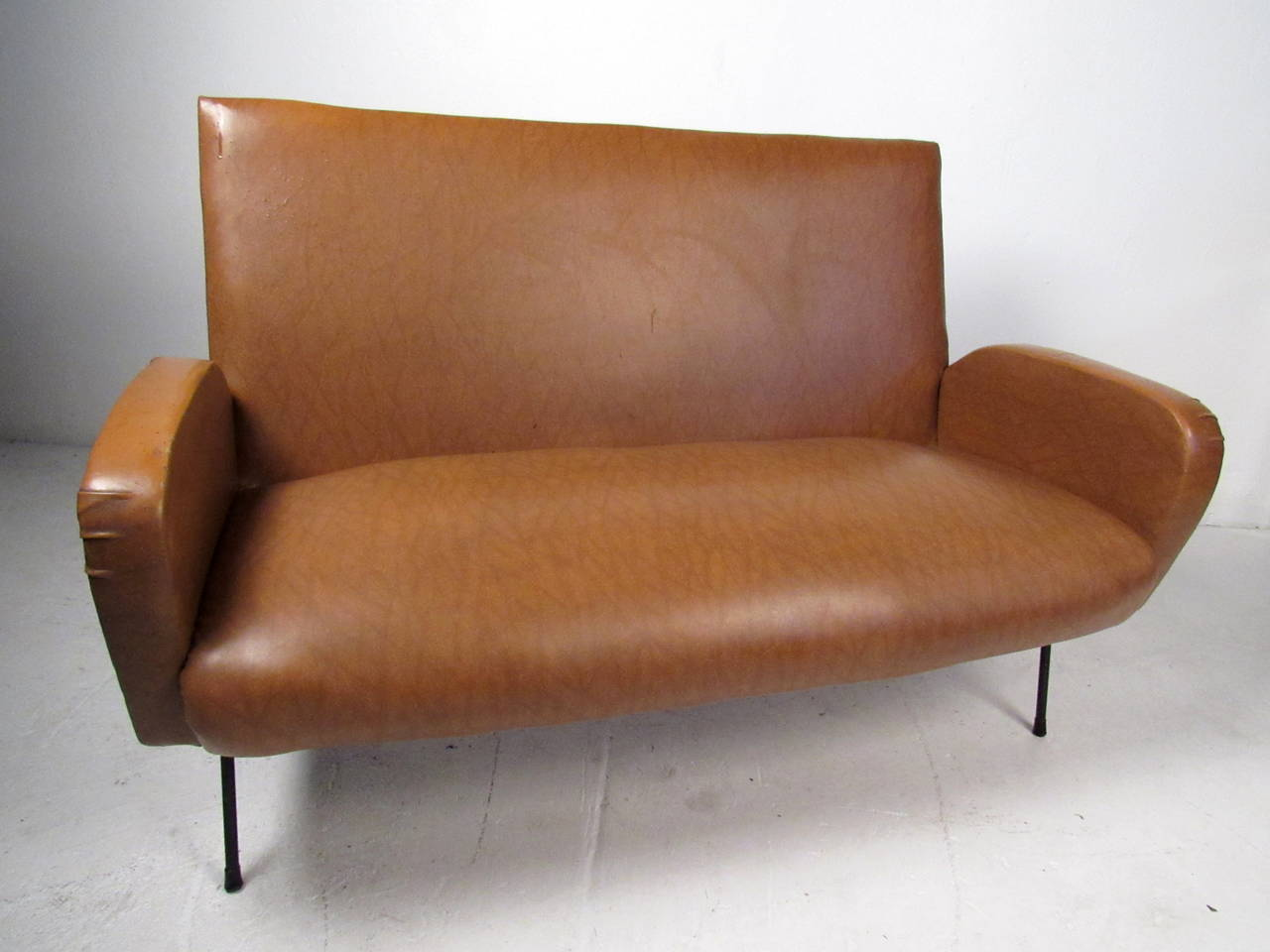 Italian Modern Two Seat Sofa In Good Condition For Sale In Brooklyn, NY