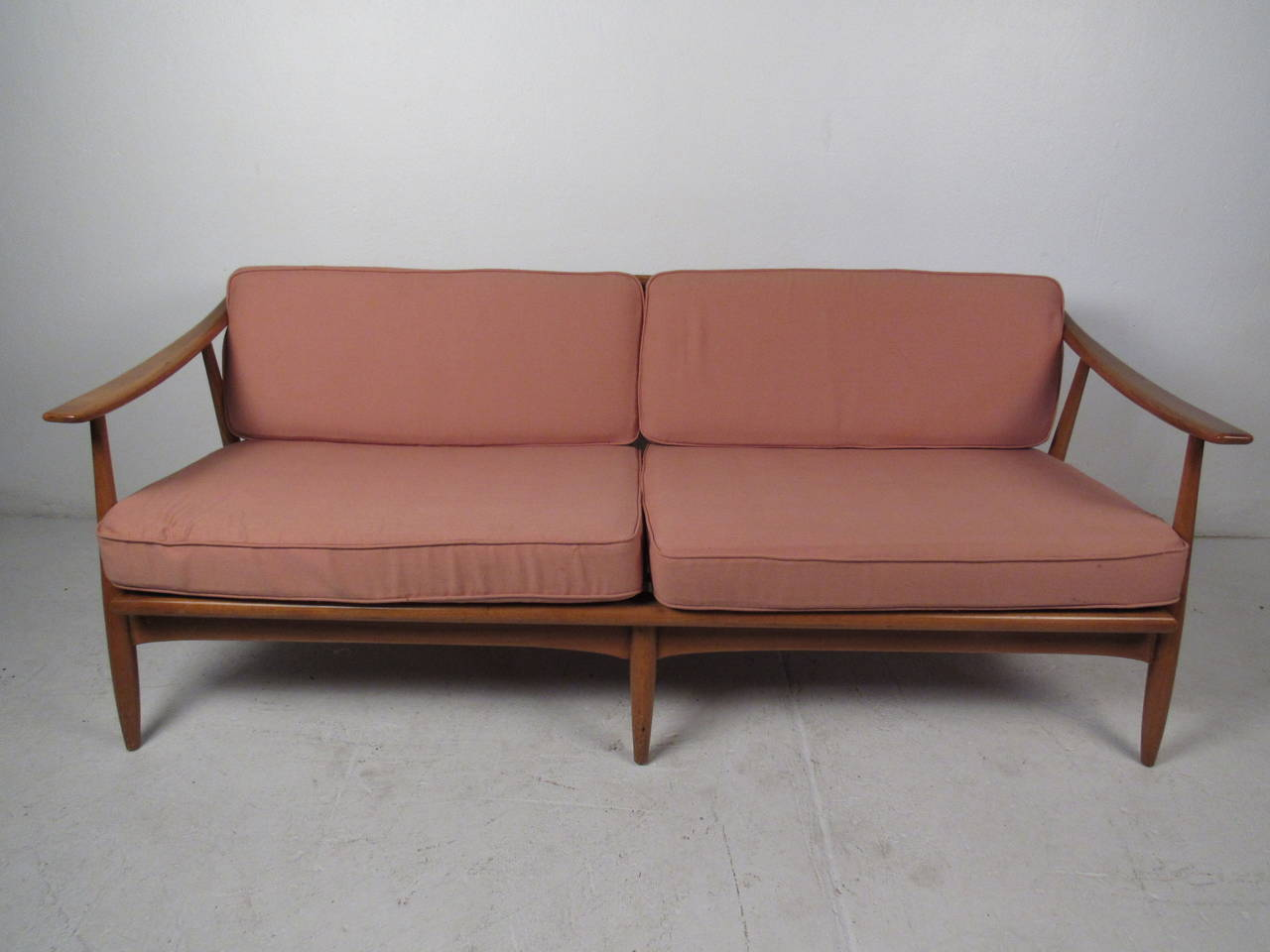 Modern wood furniture sofa - Mid Century Modern Wood Frame Sofa 2