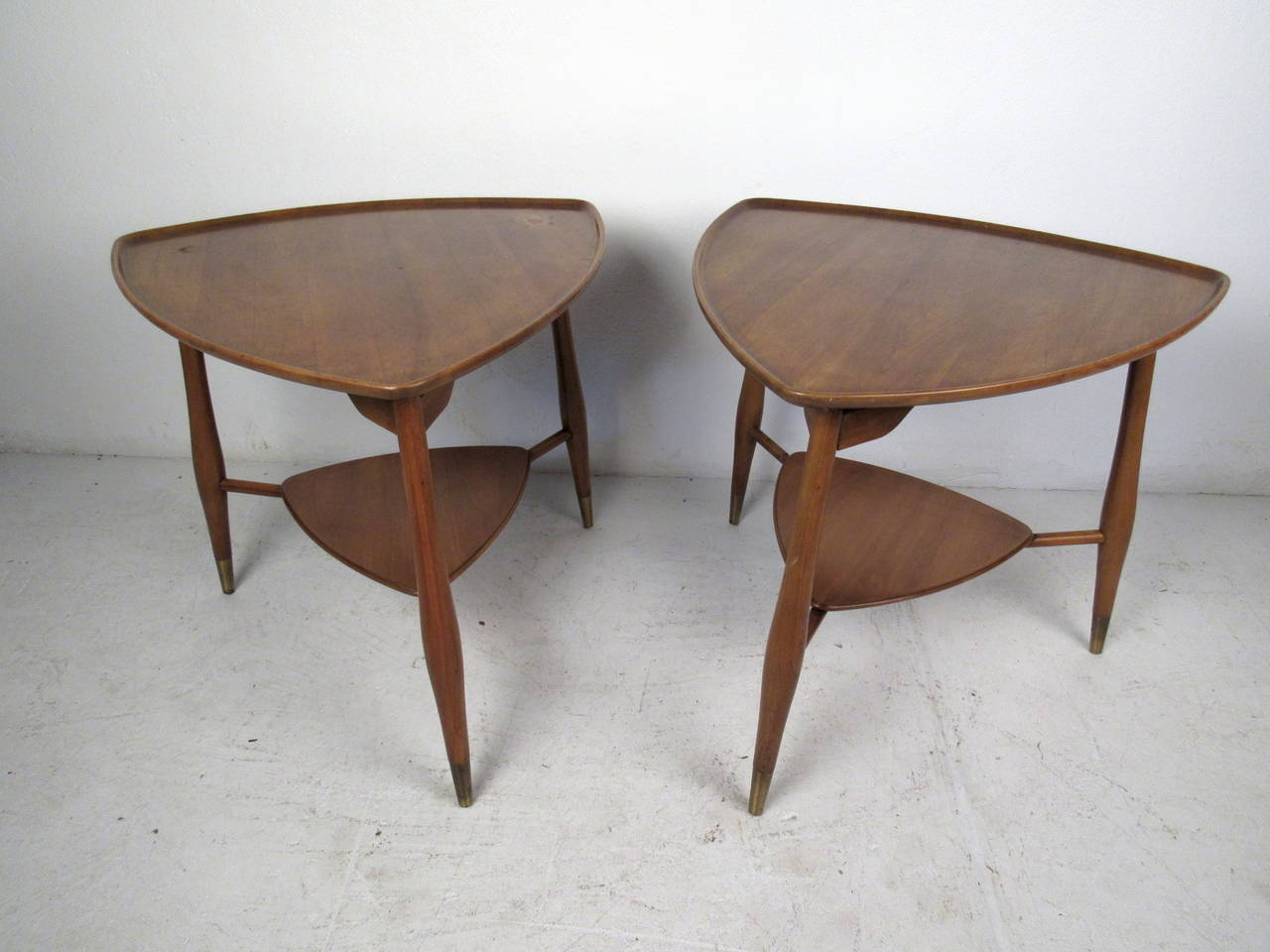 This Pair Of Mid Century End Tables By John Widdicomb Feature A Two Tier  Design,