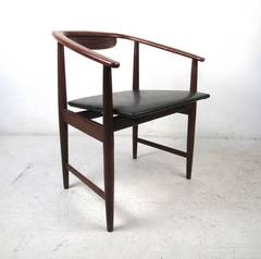 Mid Century Modern Walnut Chair