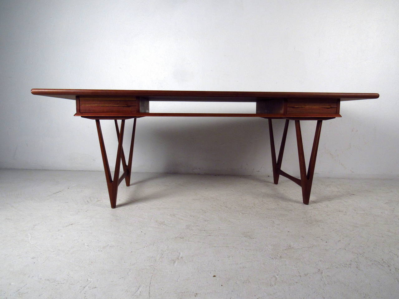 Danish modern teak coffee table with two drawers by e w bach for sale at 1stdibs Modern teak coffee table