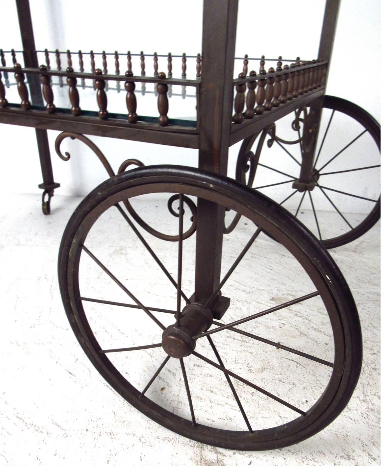 20th Century Ornate Vintage Bar or Tea Cart For Sale
