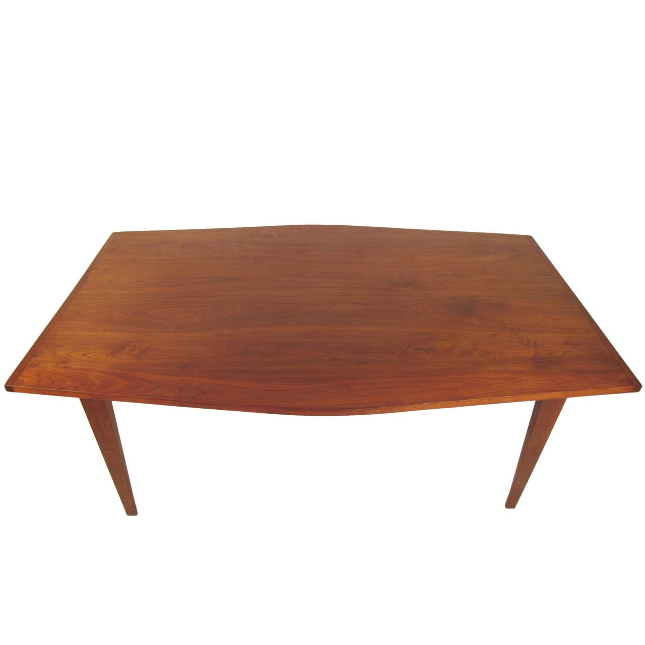 Mid century modern angled dining table for sale at 1stdibs for Mid century modern dining table