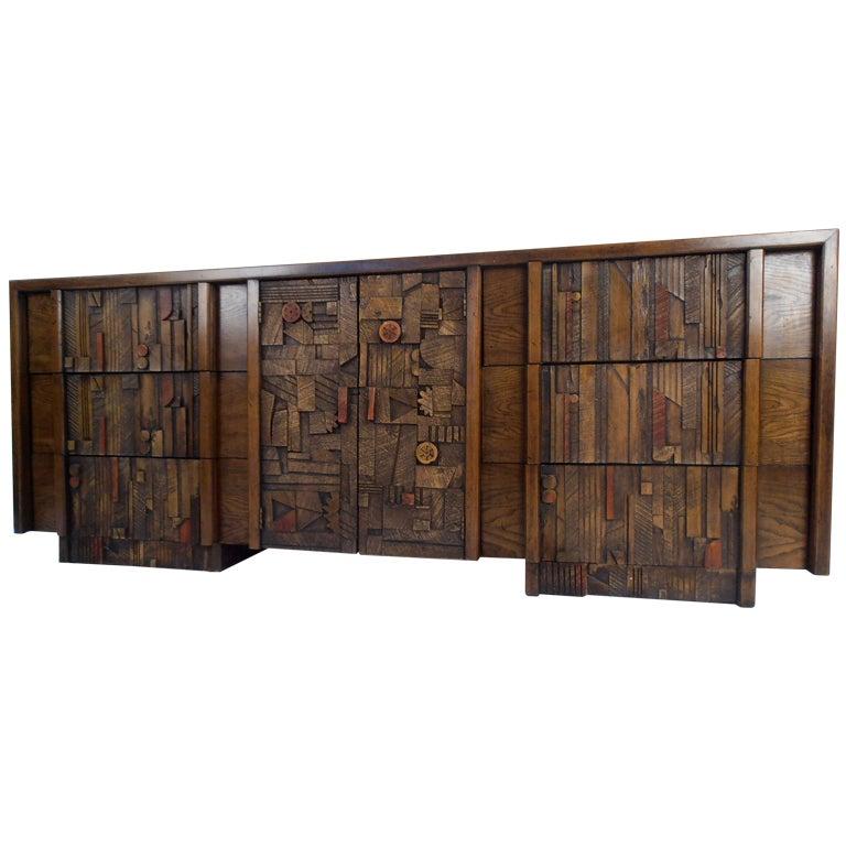 Mosaic Brutalist Dresser By Lane Furniture At 1stdibs