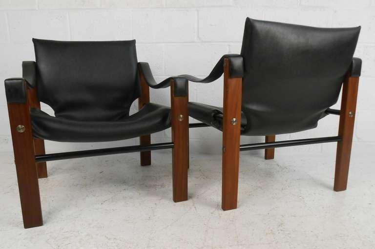 Scandinavian Modern Pair of Safari Chairs by Maurice Burke for Arkana For Sale