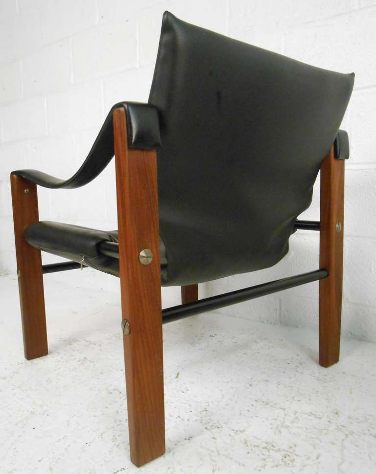 Pair of Safari Chairs by Maurice Burke for Arkana In Good Condition For Sale In Brooklyn, NY