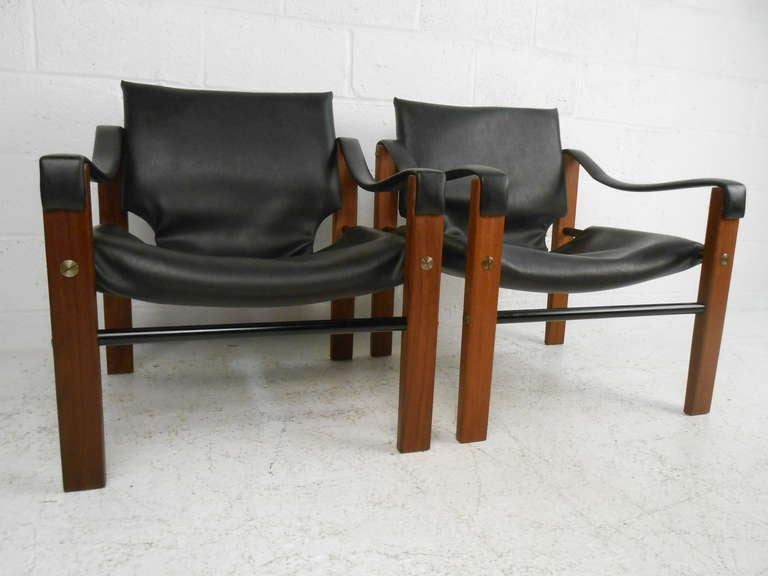 Pair Of Safari Chairs By Maurice Burke For Arkana For Sale