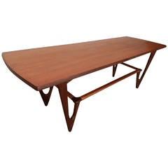 Kurt Østervig Style Midcentury Teak Coffee Table