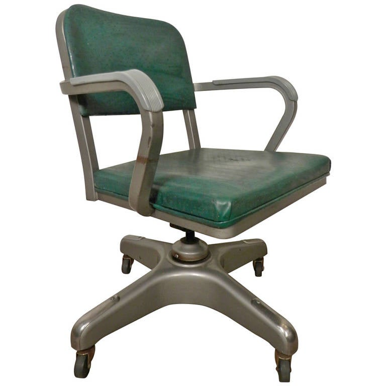 Mid Century Heavy Duty Desk Chair By Metal Lux For Sale At