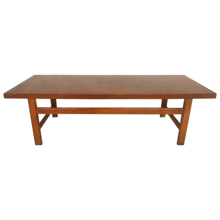 Mid-Century Modern American Walnut Coffee Table By Lane