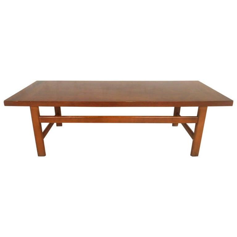 Modern American Walnut Coffee Table By Lane Furniture At 1stdibs