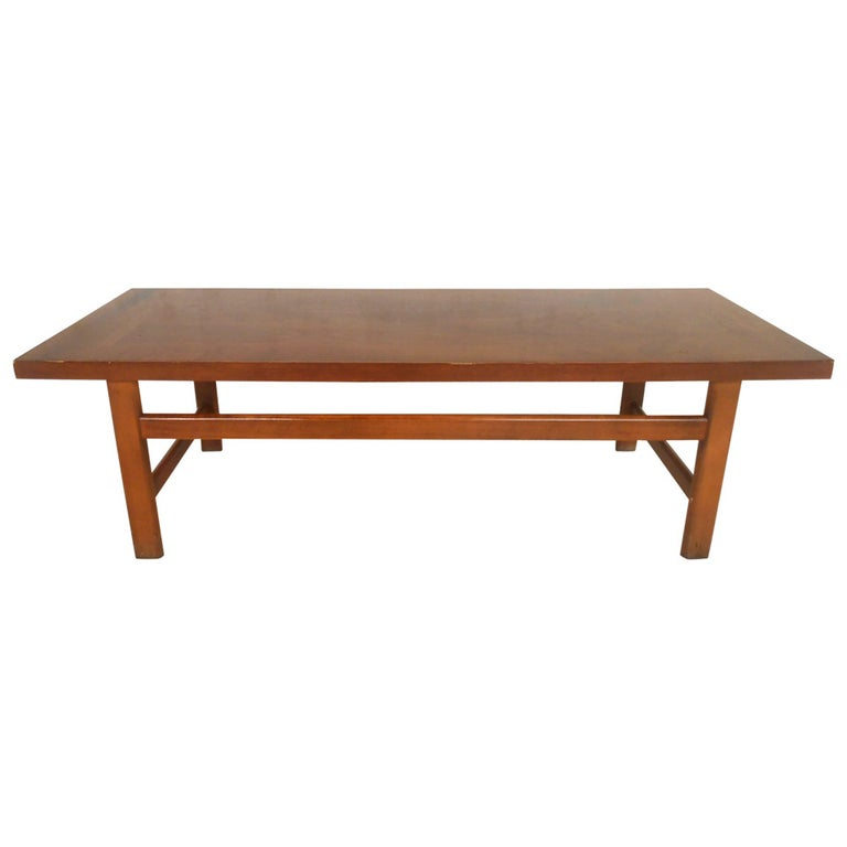 Vintage Walnut Coffee Table by Lane Furniture For Sale