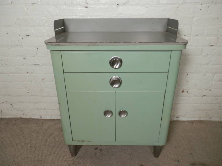 Henry Hamilton Industrial Mid Century Metal Cabinet At 1stdibs