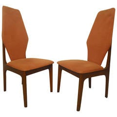 Adrian Pearsall Style Tall Back Chairs