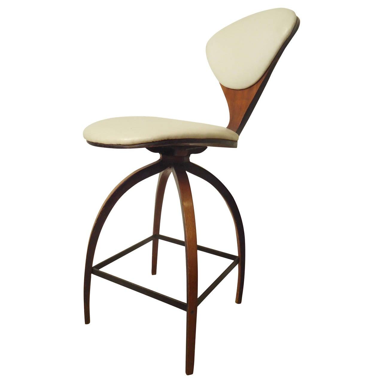 Norman cherner swivel stool at 1stdibs - Norman cherner barstool ...