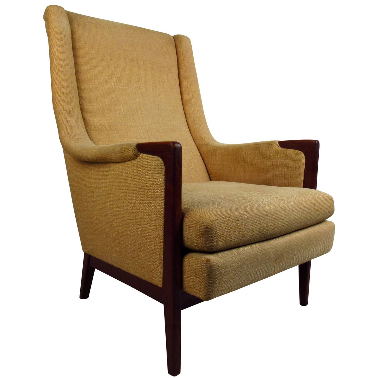 High back chair modern - Mid Century Modern High Back Lounge Chair 1