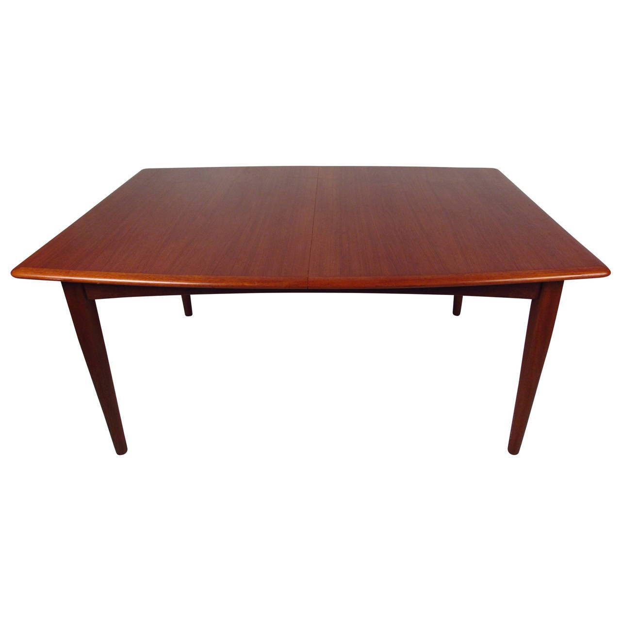 Danish modern butterfly leaf dining table at 1stdibs for Dining room table replacement leaf