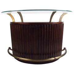 Mid-Century Modern Glass-Top Bar by Universal Furniture Company