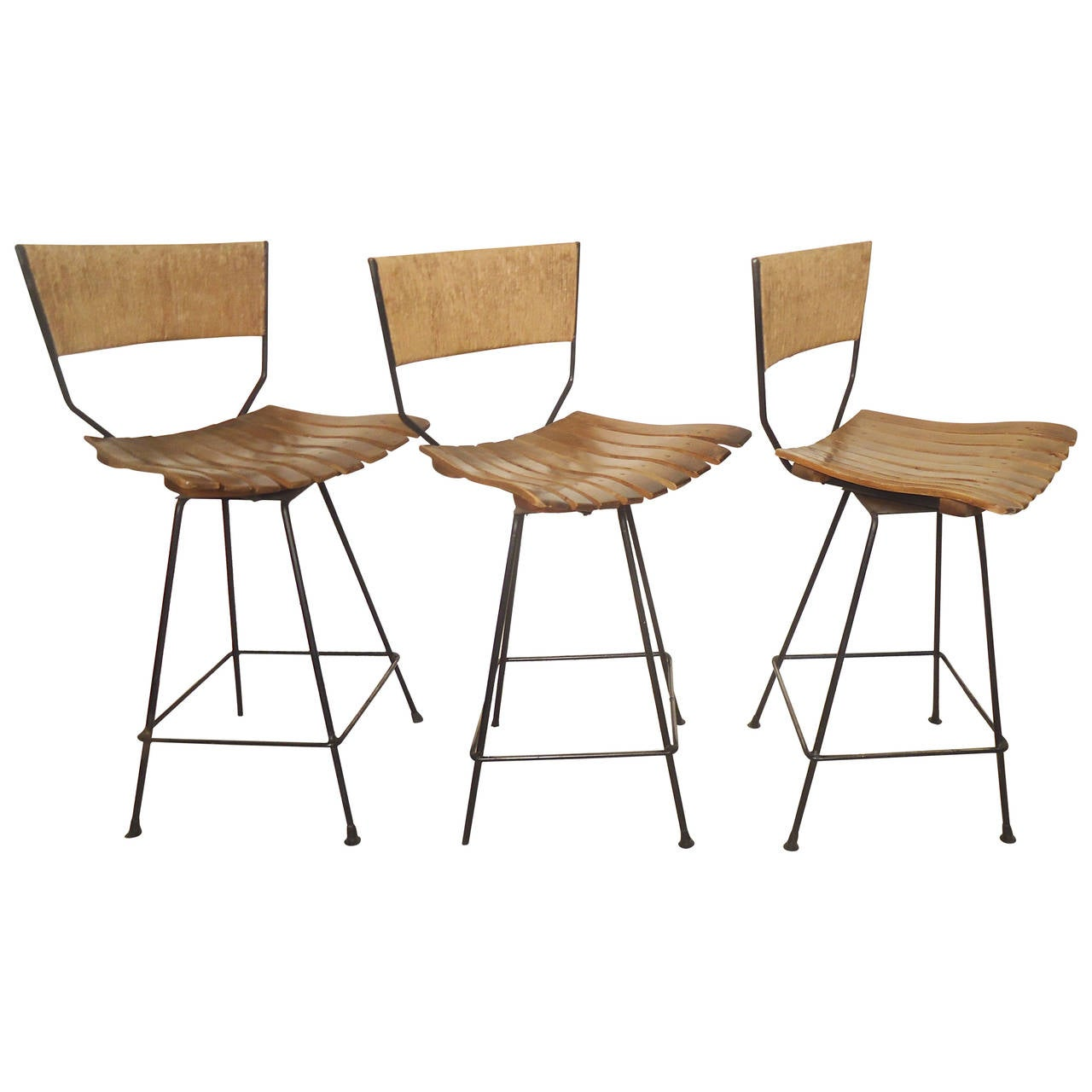 Arthur Umanoff Counter Stools At 1stdibs
