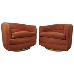 Milo Baughman Swivel Tub Chairs for Thayer Coggin
