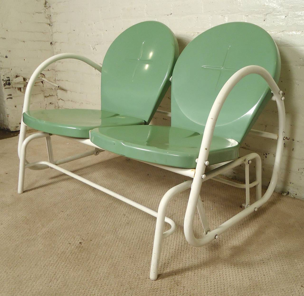 Mid Century Modern Patio Glider For Sale at 1stdibs