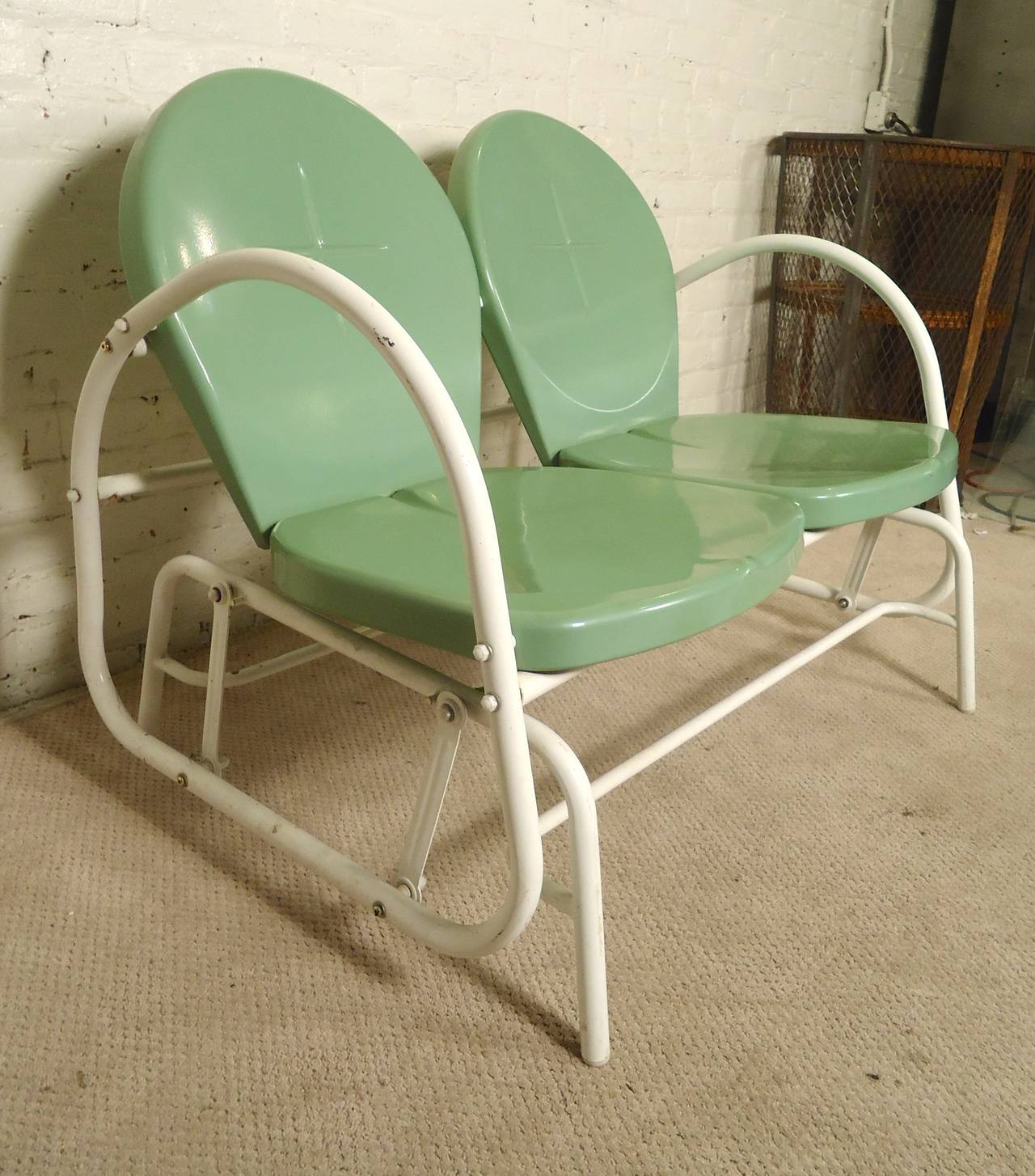 new arrival 37043 7679a Mid-Century Modern Patio Glider For Sale at 1stdibs