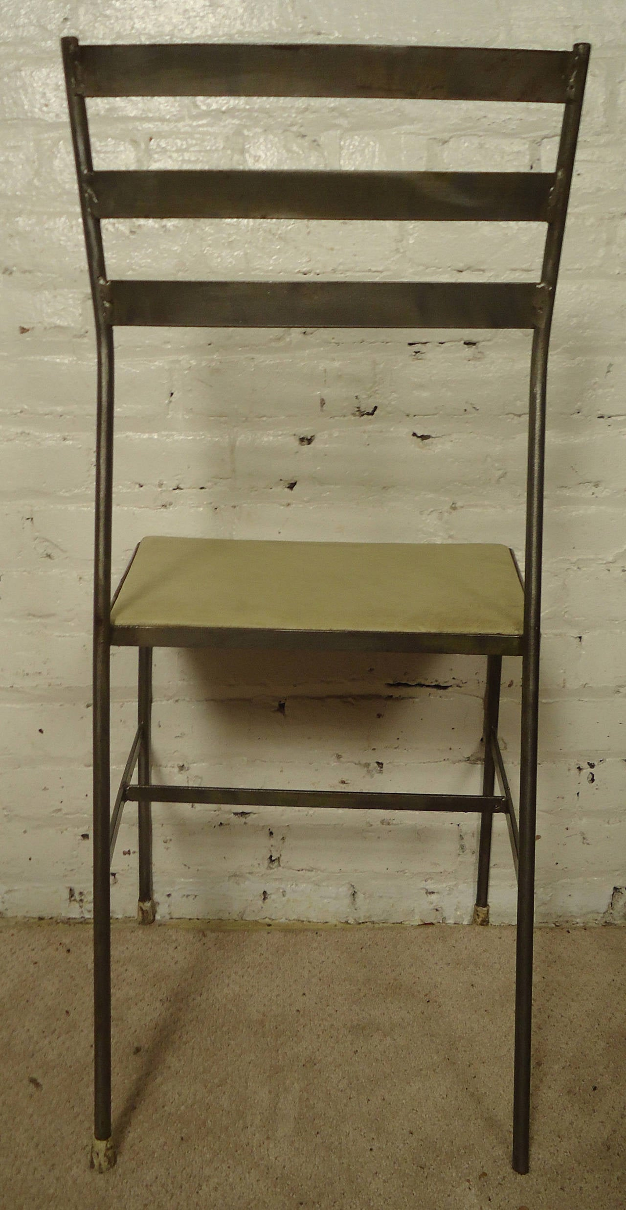 Mid Century Iron Patio Chairs: Set Of Four Mid Century Iron Chairs By Gallo Original Iron