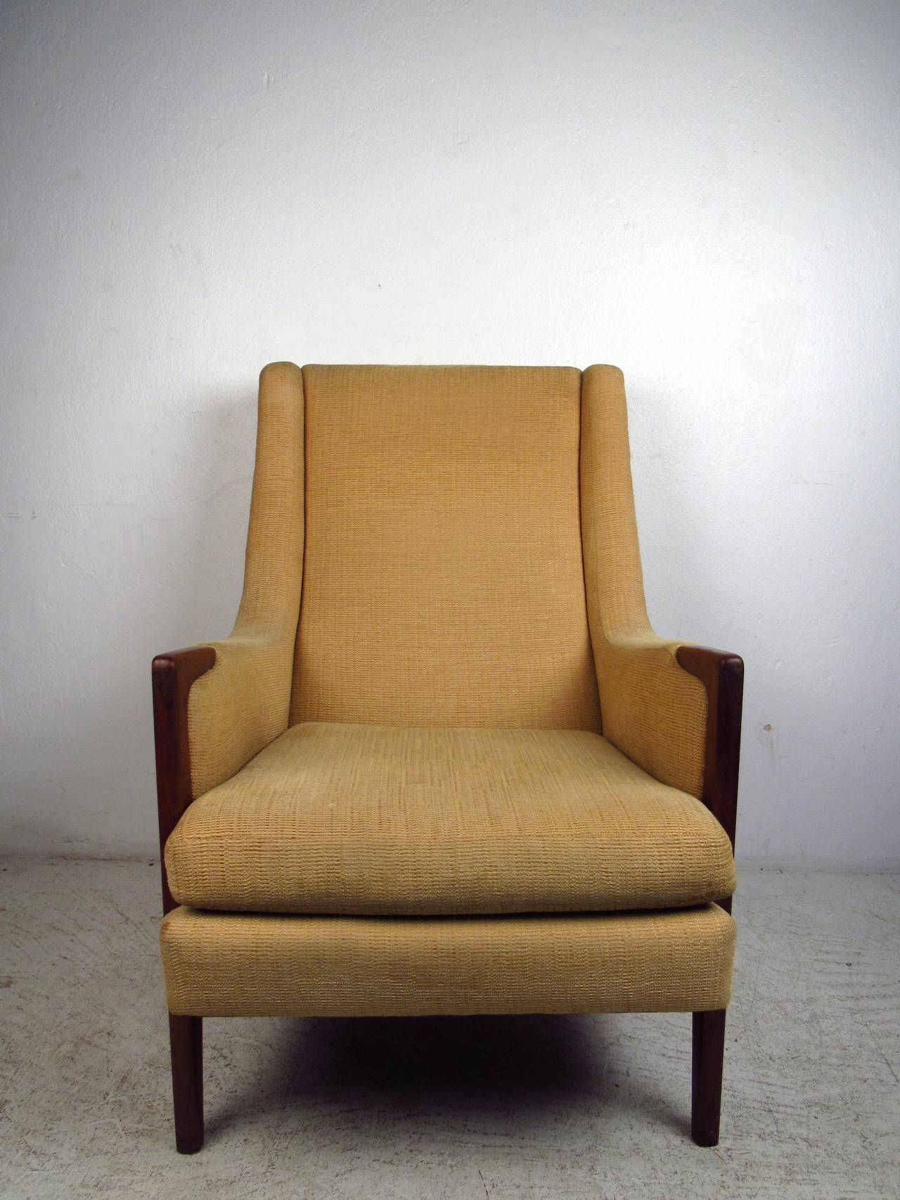 Modern light blue leather swivel lounge chair dove midcentury - Mid Century Modern High Back Lounge Chair 2